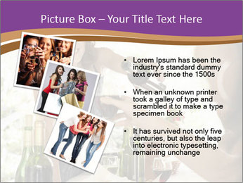 Woman serving red wine PowerPoint Template - Slide 17