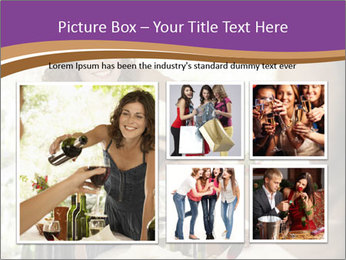 Woman serving red wine PowerPoint Template - Slide 19