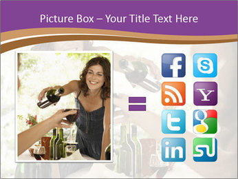 Woman serving red wine PowerPoint Template - Slide 21
