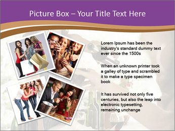 Woman serving red wine PowerPoint Template - Slide 23