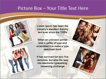 Woman serving red wine PowerPoint Template - Slide 24