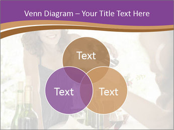 Woman serving red wine PowerPoint Template - Slide 33