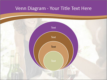 Woman serving red wine PowerPoint Template - Slide 34