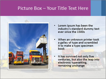 Lift truck loading shipping PowerPoint Template - Slide 13