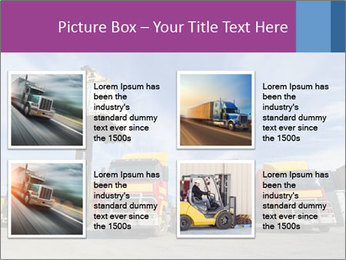 Lift truck loading shipping PowerPoint Template - Slide 14