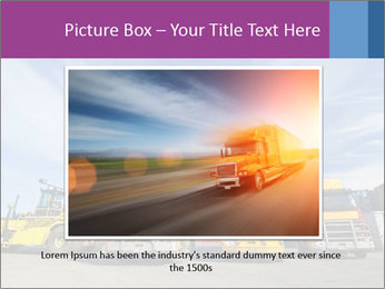 Lift truck loading shipping PowerPoint Templates - Slide 15