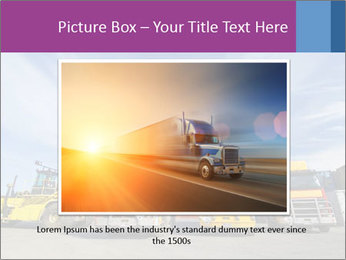 Lift truck loading shipping PowerPoint Template - Slide 16