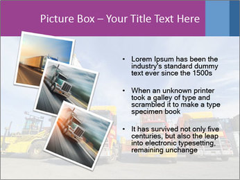 Lift truck loading shipping PowerPoint Template - Slide 17