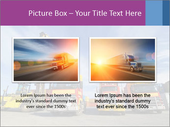 Lift truck loading shipping PowerPoint Template - Slide 18
