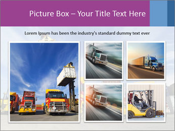 Lift truck loading shipping PowerPoint Template - Slide 19