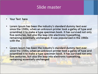 Lift truck loading shipping PowerPoint Template - Slide 2