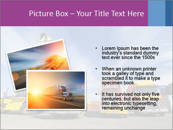 Lift truck loading shipping PowerPoint Template - Slide 20