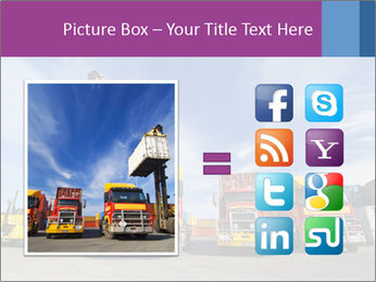 Lift truck loading shipping PowerPoint Template - Slide 21