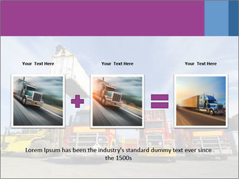Lift truck loading shipping PowerPoint Template - Slide 22