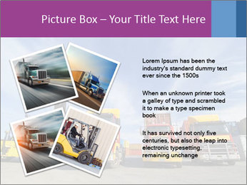 Lift truck loading shipping PowerPoint Template - Slide 23