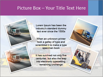 Lift truck loading shipping PowerPoint Template - Slide 24