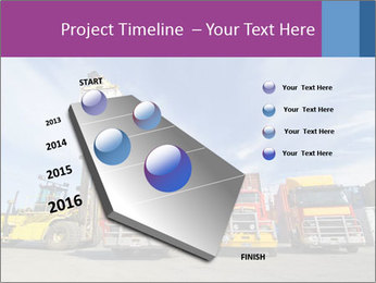 Lift truck loading shipping PowerPoint Template - Slide 26