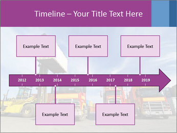 Lift truck loading shipping PowerPoint Template - Slide 28