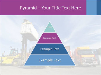 Lift truck loading shipping PowerPoint Template - Slide 30