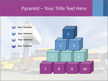 Lift truck loading shipping PowerPoint Template - Slide 31