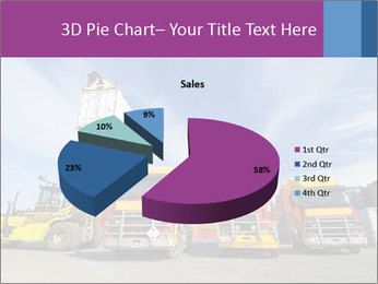 Lift truck loading shipping PowerPoint Template - Slide 35