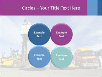 Lift truck loading shipping PowerPoint Template - Slide 38