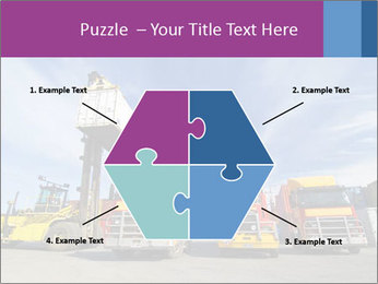 Lift truck loading shipping PowerPoint Template - Slide 40
