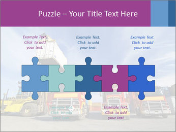 Lift truck loading shipping PowerPoint Template - Slide 41