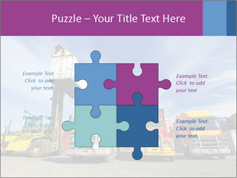 Lift truck loading shipping PowerPoint Template - Slide 43