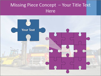 Lift truck loading shipping PowerPoint Template - Slide 45