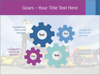 Lift truck loading shipping PowerPoint Template - Slide 47