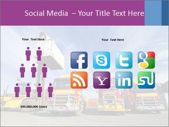 Lift truck loading shipping PowerPoint Template - Slide 5