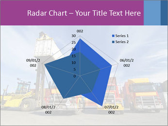 Lift truck loading shipping PowerPoint Template - Slide 51
