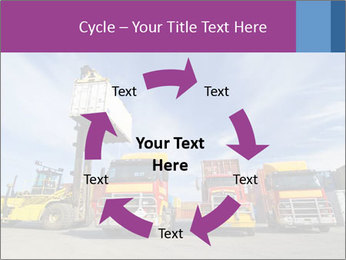 Lift truck loading shipping PowerPoint Template - Slide 62
