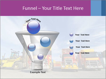Lift truck loading shipping PowerPoint Template - Slide 63