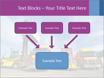Lift truck loading shipping PowerPoint Template - Slide 70