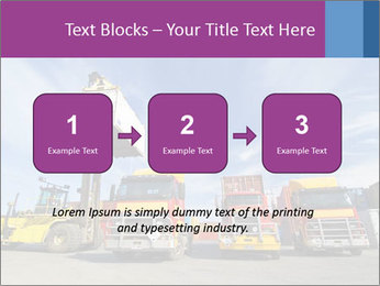 Lift truck loading shipping PowerPoint Template - Slide 71