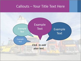 Lift truck loading shipping PowerPoint Template - Slide 73