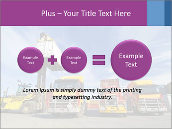 Lift truck loading shipping PowerPoint Template - Slide 75