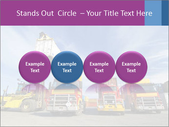 Lift truck loading shipping PowerPoint Template - Slide 76