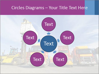 Lift truck loading shipping PowerPoint Template - Slide 78