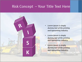 Lift truck loading shipping PowerPoint Template - Slide 81