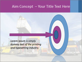 Lift truck loading shipping PowerPoint Template - Slide 83