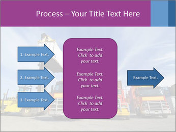 Lift truck loading shipping PowerPoint Template - Slide 85