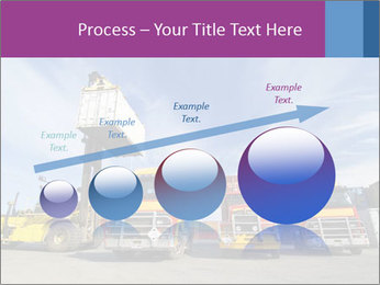Lift truck loading shipping PowerPoint Template - Slide 87