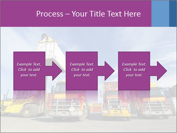 Lift truck loading shipping PowerPoint Template - Slide 88
