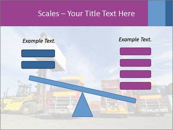 Lift truck loading shipping PowerPoint Template - Slide 89