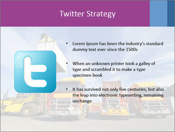Lift truck loading shipping PowerPoint Template - Slide 9