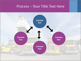 Lift truck loading shipping PowerPoint Template - Slide 91