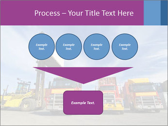 Lift truck loading shipping PowerPoint Template - Slide 93